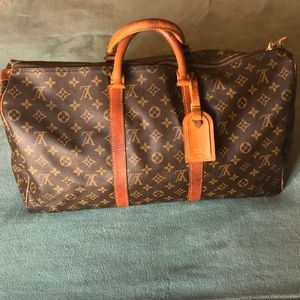 Authentic Louis Vuitton Keepall 50 w luggage tag